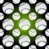 Naadloze honkbalballen Stock Afbeelding
