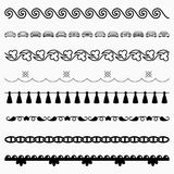 Naadloze horizontale patronen Royalty-vrije Stock Fotografie