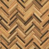 Naadloze houten de visgraat klem-kunst van de parkettextuur Royalty-vrije Stock Foto's