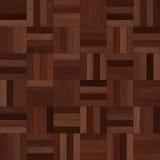 Naadloze houten het schaak donkere bruin van de parkettextuur Stock Afbeeldingen
