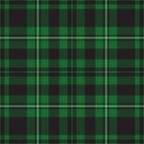 Naadloze illustratie - groen geruit Schots wollen stof royalty-vrije illustratie