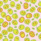 Naadloze illustratie met appelen, appelen naadloze achtergrond Royalty-vrije Stock Foto