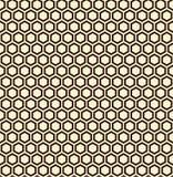 Naadloze illustratie van zwarte honingraat, naadloos patroon Stock Foto