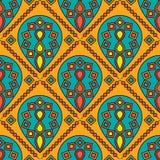 Naadloze Indische Mandala Print Design Royalty-vrije Stock Fotografie