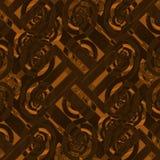 Naadloze ingewikkelde spiraalvormige patroon bruine sinaasappel Stock Foto's