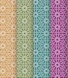Naadloze Islamitische Marokkaanse patroonreeks Arabisch geometrisch ornament Moslimtextuur Wijnoogst die achtergrond herhalen Vec Royalty-vrije Stock Foto