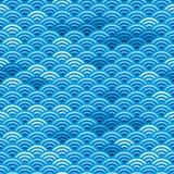 Naadloze Japanse golven Stock Afbeeldingen