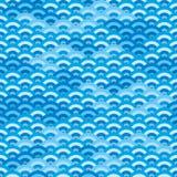 Naadloze Japanse golven Royalty-vrije Stock Afbeelding