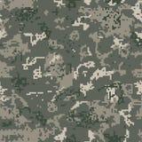 Naadloze kaki camouflage van pixelpatroon Stock Foto