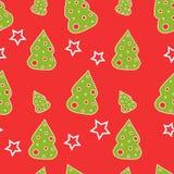 Naadloze Kerstboom royalty-vrije illustratie