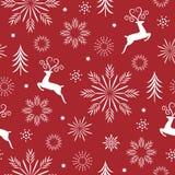 Naadloze Kerstmis en van het nieuwe jaar patroon stock foto