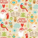Naadloze Kerstmisachtergrond Stock Fotografie