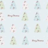 Naadloze Kerstmisachtergrond Stock Afbeelding