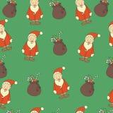 Naadloze Kerstmisachtergrond, krabbels Stock Foto