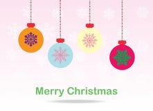 Naadloze Kerstmiskaart Royalty-vrije Stock Foto