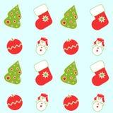 Naadloze Kerstmispictogrammen Vector Illustratie