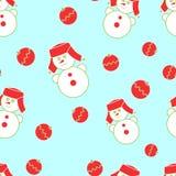 Naadloze Kerstmissneeuwman Royalty-vrije Illustratie