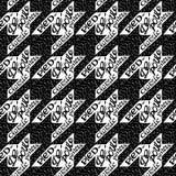 Naadloze klassieke stof houndstooth, patroon bont-DE Royalty-vrije Stock Afbeeldingen