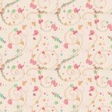 Naadloze Kleine Kleurrijke Bloemen Stock Foto's