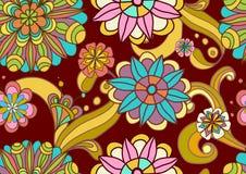 Naadloze kleuren bloemenachtergrond Royalty-vrije Stock Fotografie
