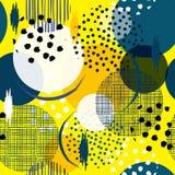Naadloze kleurrijk en pret velen patroon in grote stippen Vul I vector illustratie