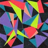 Naadloze kleurrijke abstracte retro achtergrond Stock Afbeelding