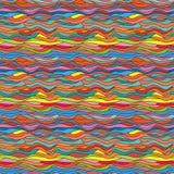 Naadloze kleurrijke achtergrond met golvend patroon Royalty-vrije Stock Afbeeldingen