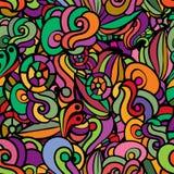 Naadloze kleurrijke bloemenachtergrond Stock Foto's