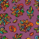 Naadloze kleurrijke bloemenachtergrond Stock Afbeelding