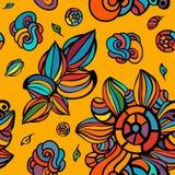 Naadloze kleurrijke bloemenachtergrond Stock Afbeeldingen