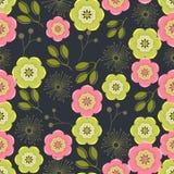 Naadloze kleurrijke die achtergrond van abstract roze en groen FL wordt gemaakt stock illustratie
