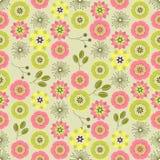 Naadloze kleurrijke die achtergrond van abstract roze en groen FL wordt gemaakt vector illustratie