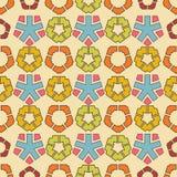 Naadloze kleurrijke die achtergrond van abstracte geometrische vormen wordt gemaakt royalty-vrije illustratie