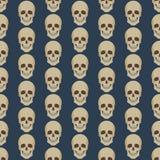 Naadloze kleurrijke die achtergrond van abstracte schedels wordt gemaakt royalty-vrije illustratie