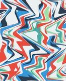 Naadloze kleurrijke die achtergrond van abstracte vormen wordt gemaakt royalty-vrije illustratie