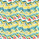 Naadloze kleurrijke die achtergrond van abstracte vormen wordt gemaakt vector illustratie