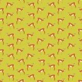 Naadloze kleurrijke die achtergrond van antilopen in vlak ontwerp wordt gemaakt royalty-vrije illustratie