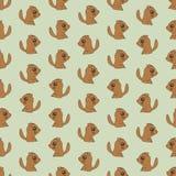 Naadloze kleurrijke die achtergrond van beeldverhalen van leuke puppy wordt gemaakt royalty-vrije illustratie