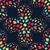 Naadloze kleurrijke die achtergrond van exotisch patroon wordt gemaakt stock illustratie