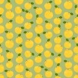 Naadloze kleurrijke die achtergrond van gele appelen wordt gemaakt vector illustratie