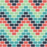 Naadloze Kleurrijke die achtergrond van gestikte rond gemaakte rechthoeken wordt gemaakt vector illustratie