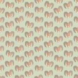 Naadloze kleurrijke die achtergrond van hoofden van schapen in vlakke desi wordt gemaakt royalty-vrije illustratie