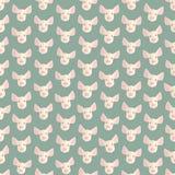 Naadloze kleurrijke die achtergrond van hoofden van varken in vlakke desig wordt gemaakt vector illustratie