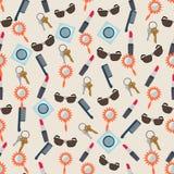 Naadloze kleurrijke die achtergrond van inhoud van vrouwenbeurs wordt gemaakt in F stock illustratie