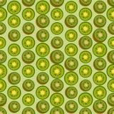 Naadloze kleurrijke die achtergrond van kiwi in vlak ontwerp wordt gemaakt vector illustratie