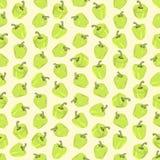Naadloze kleurrijke die achtergrond van lichtgroene peper in vlakte wordt gemaakt vector illustratie