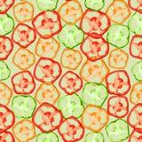 Naadloze kleurrijke die achtergrond van plakken van peper in vlak DE wordt gemaakt royalty-vrije illustratie
