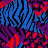 Naadloze kleurrijke dierlijke huidtextuur van zebra Stock Afbeelding