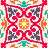 Naadloze kleurrijke ornamenttegels Stock Foto's