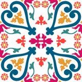 Naadloze kleurrijke ornamenttegels Stock Afbeeldingen